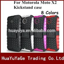 Free Shipping Kickstand 2 in 1 Combo TPU Soft skin phone case cover for Motorola Moto X+1 X2