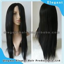 jet black color brazilian virgin hair ful swiss lace wig human hair wig
