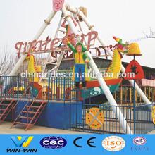 Model amusement park ride pirate ship