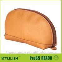 Personalized plain color clutch leather coin purse