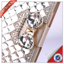Leather Case For Iphone6, For Iphone 6 Bling Wallet Case, For Iphone 6 Diamond Case
