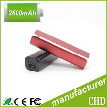 Color aluminium case portable keychain power bank ,external battery charger 2200mAh 2600mAh 3000mah