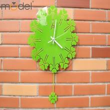 Gift Crafts Lucky Clover Clock Handicraft New Design Wall Decoration