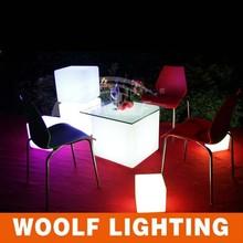 RGB colorful led light cube bar table