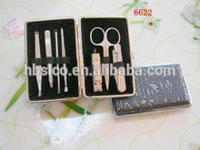 Leather Nail Manicure Pendicure Case Poucn & travel gift