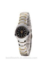 2015 Ladies Women Girls Luxury Band Sapphire Tungsten Women Gold Watch