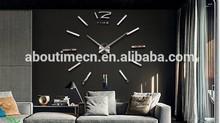 Large Luxury DIY 3D Wall Clock Home Decor Stickers clocks