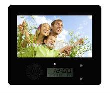 2015 new model desktop calendar with photo frame front speaker digital photo viewer