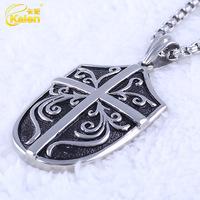 wholesale 316l stainless steel fashion men arrowhead pendant