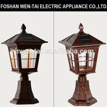 Outdoor patio lamp/solar patio lamp/pillar gate lights