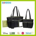 Değerli bez çanta anne çanta taşımak, naylon tasarımcı moda bebek bezi çantası