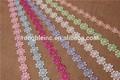 colorido patrón de flores de encaje química trim para accesorios y prendas de vestir