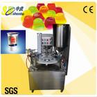 Entirely new rotary Gelatin dessert/yogurt cup filling and sealing machine