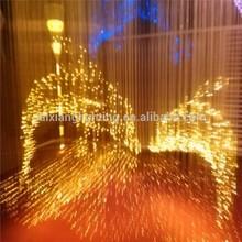 retangle modern luxury crystal led decoration light chandelier fiber optic dolphin