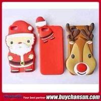 3D Cute Santa Claus Soft Silicone Christmas Case for iPhone 6,for iPhone6 Plus Wholesale Christmas Mobile Phone Case