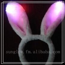 plastic flash for party led wholesale rabbit ear headband