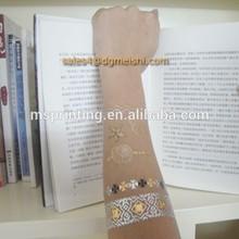jewelry inspired flash tattoo sticker gold foil temporary tattoo