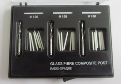 Germany Material Dental Glass Fiber Composite Post with three Size 1.20~1.50mm