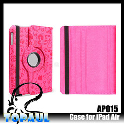 funky rotatable stand case for ipad air cartoon bumper case for tablet pc