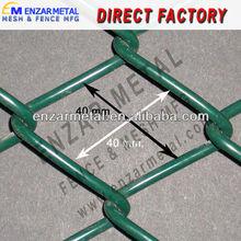Galvanized chain link fence for garden/chicken farm