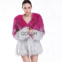 A30403 genuina maglia cappotto di pelliccia di procione/cappotto di pelliccia vera/moda 2015 abbigliamento porcellana