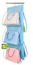 Hanging handbag Organizer,blue and clear