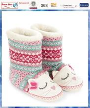 2014 best selling Fairisle cat knit child winter boot