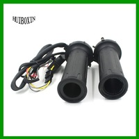 "Universal Motorcycle ATV 22mm 7/8"" 12V Heated Molded Grips Handlebar Warmer Kit and adjustable temperature"