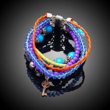 2015 popular beaded bracelets magnetic beads bracelet bangle bracelet