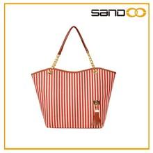 2015 China Supplier Lady's Canvas Fashion Handbag, Lady's Tote Handbag