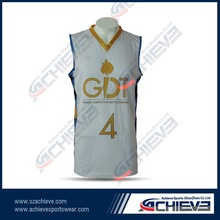 Top Quality Plain Basketball Wear ,Men Basketball Top For OEM