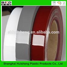High gloss wood grain PVC shelf edging and countertop edge