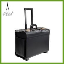 black leather Pilot luggage case