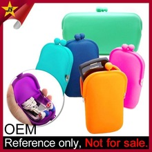 Fashion Jelly Pouch Bag Promotional Silicone Mobile Phone Bag