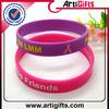 Promotion cheap segment colors round silicone bracelet