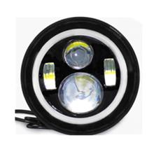 "Custom WUKMA WM-J0048B 7"" round led headlights with Halos / Headlight Revolution"