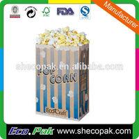 Hot sale popcorn paper sack, popcorn paper parcel