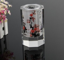 traditional Chinese Painting Crystal Pen holder MH-B0297