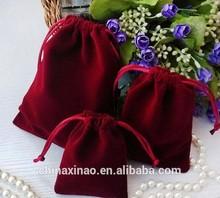 Wholesale Cheap custom packaging bags gift velvet with drawstring for packing for sale
