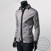 printed china wholesale silk/cotton men formal solid colour long sleeve shirts