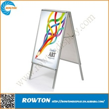 Metal advertsing board sidewalk sign frame aluminum poster frame stand