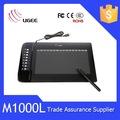 gráficos de desenho pen tablet ugee m1000l 10x6 polegadas a área ativa com caneta digital