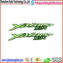 abs chrome custom 3d plastic motorcycle emblem badge