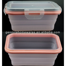 New design foldable silicon food container with low price
