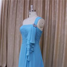 Drape comfortable fabric 2012 bridesmaid dress