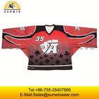White angels logo dye sublimation ice hockey jersey printing