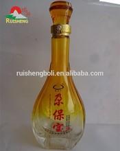 Customized 500ml yellow wine glass bottle