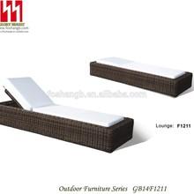 Interno/esterno mobiliin rattan regolabile chaise lounge divano letto