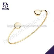 placcato in oro 14k regolabile silver925 o bracciale braccialetto ottone