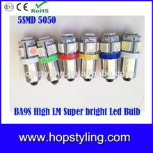 HIgh quality Ba9s 5SMD led auto bulb, Ba9s 5SMD tail tuning light